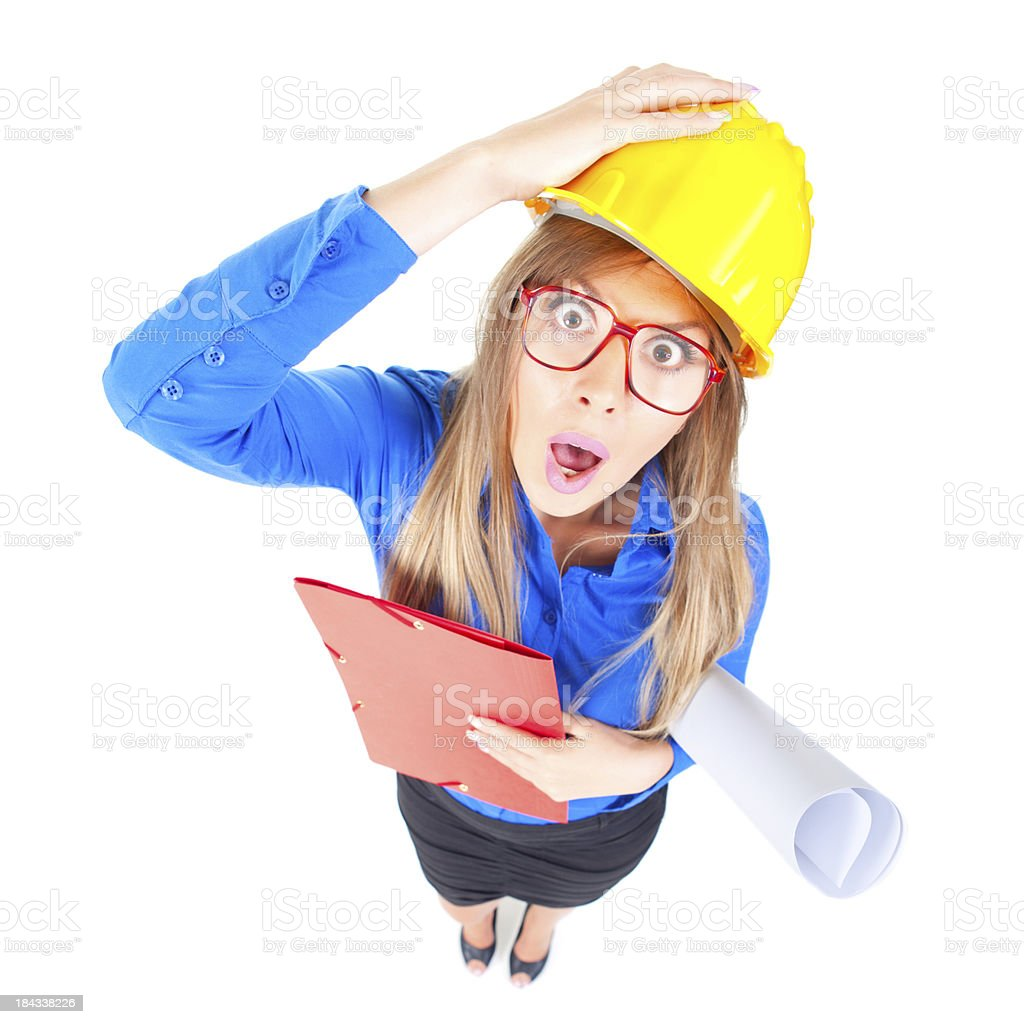 Confused architect royalty-free stock photo