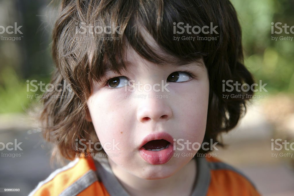 Confused Boy stock photo
