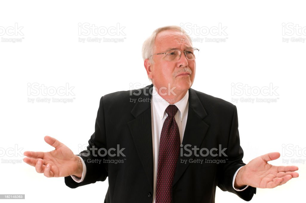 Confused Business Man royalty-free stock photo