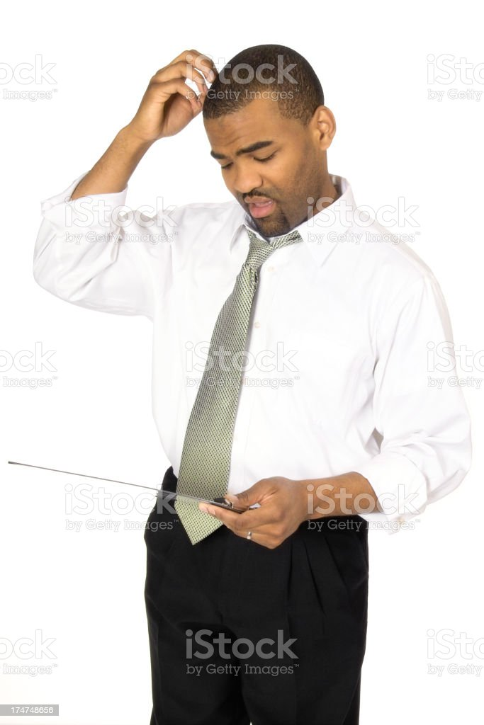 Confused Businessman stock photo