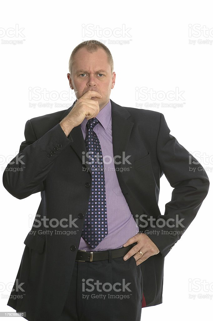 Confused businessman. royalty-free stock photo