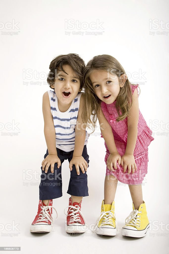 Confused children royalty-free stock photo