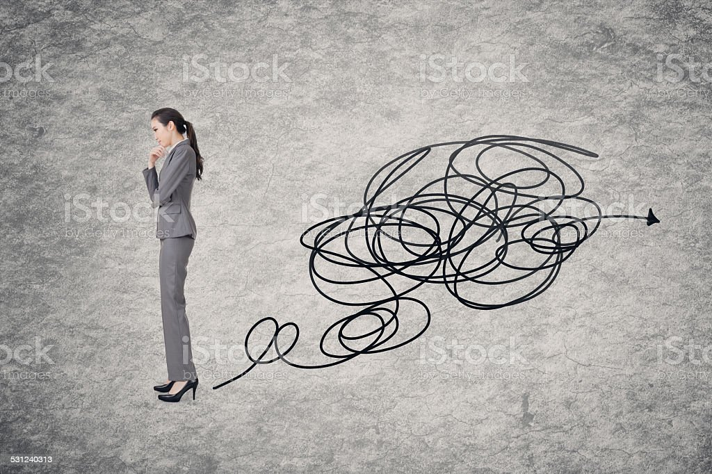 Confused concept stock photo