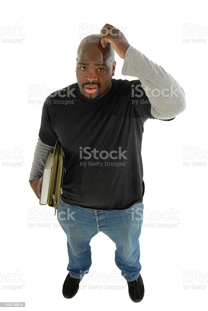 Confused in school royalty-free stock photo