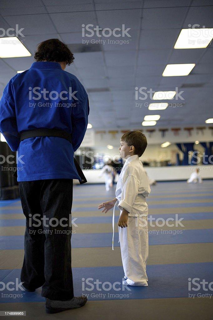 Confused Karate Kid royalty-free stock photo