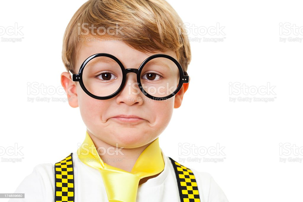 Confused little boy royalty-free stock photo