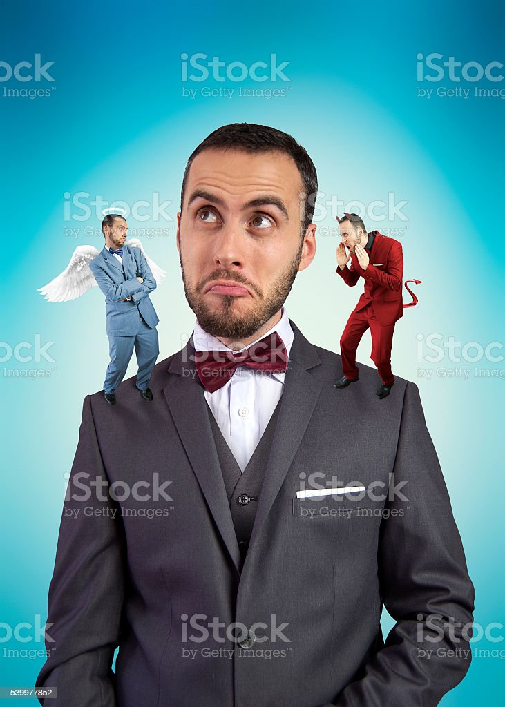 Confused man stock photo