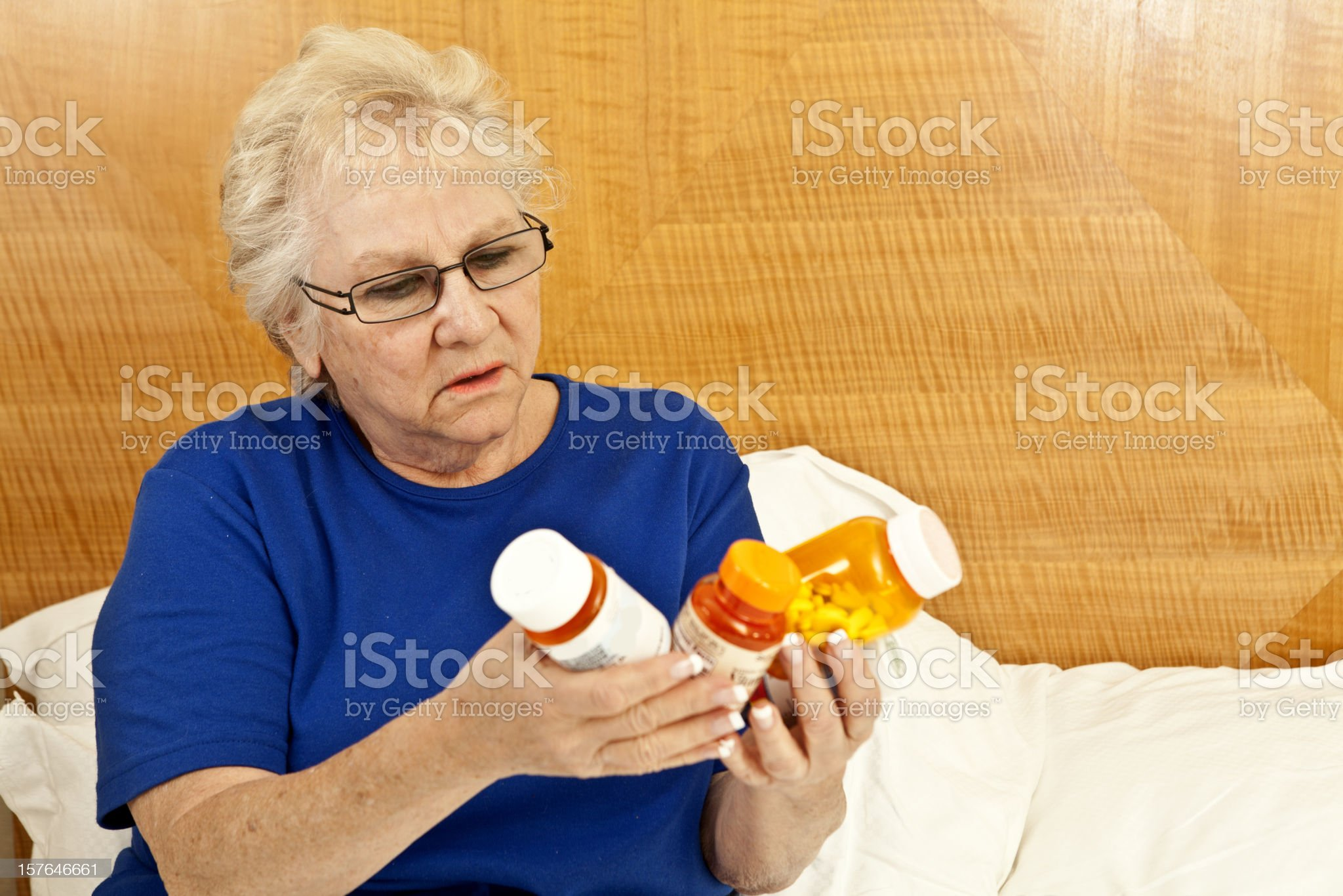 confused over medications royalty-free stock photo