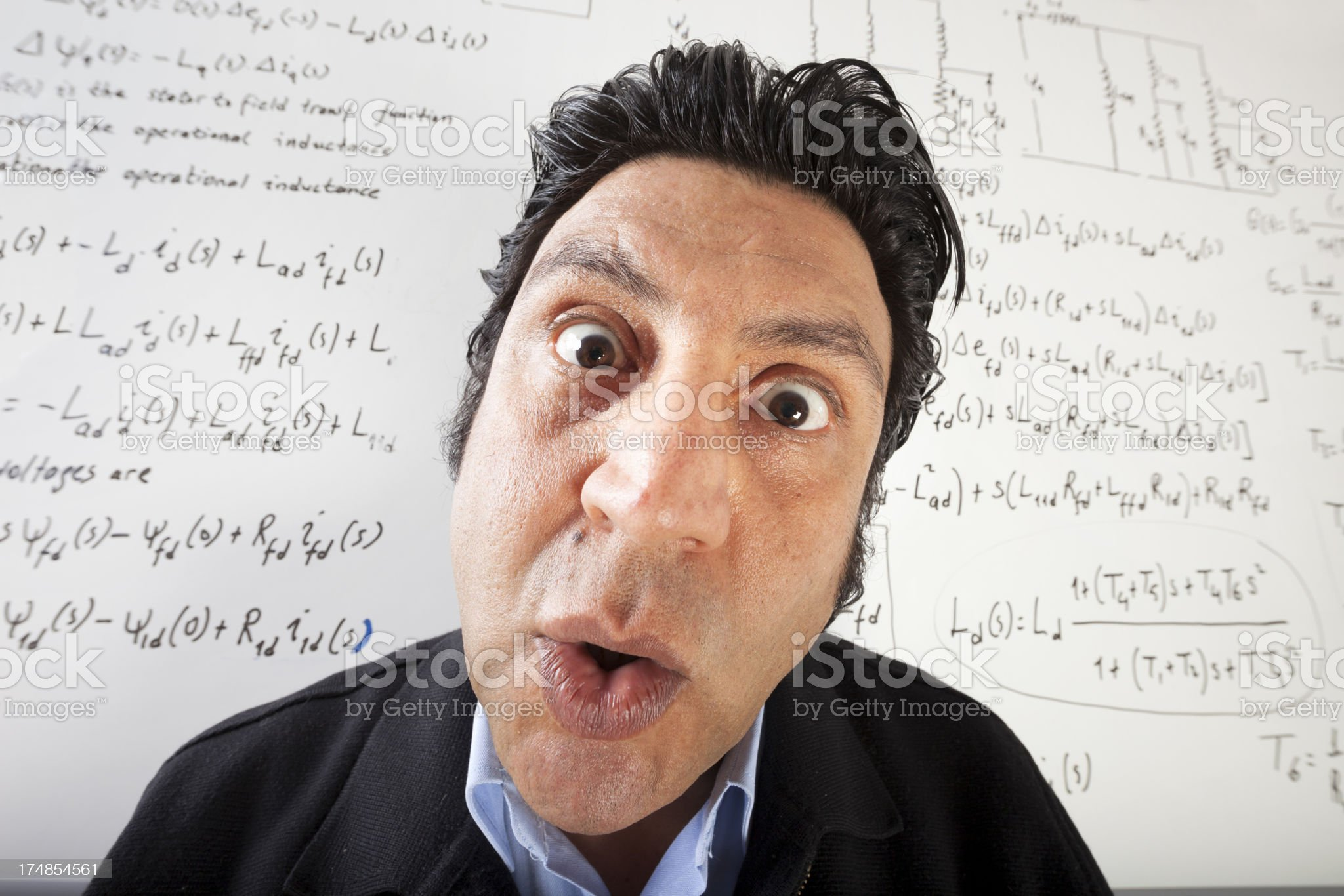 Confused Scientist royalty-free stock photo