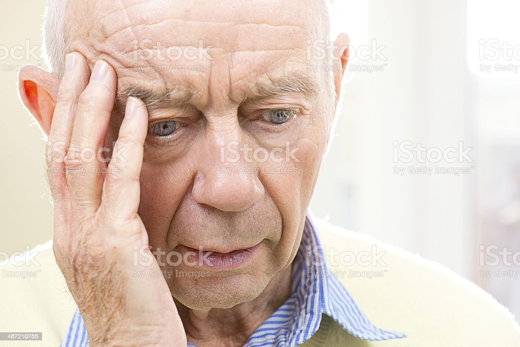 confused senior male stock photo