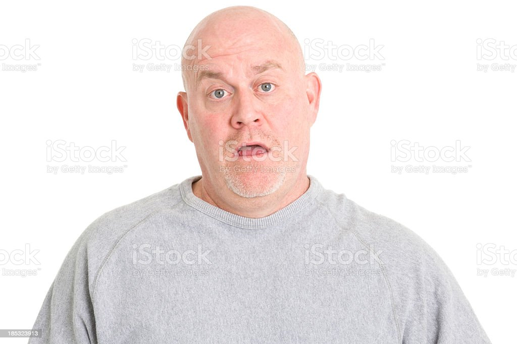 Confused Uncertain Man stock photo