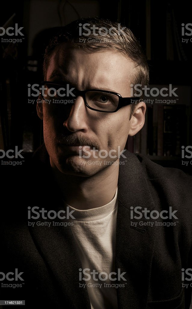 Confused with Moustache royalty-free stock photo