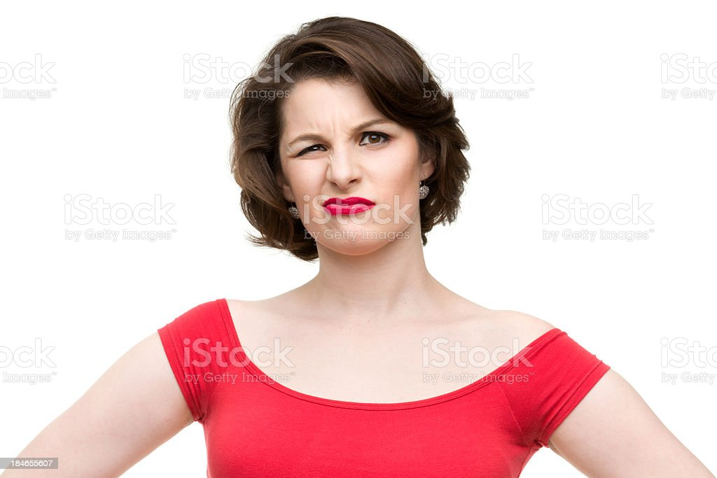 Confused Woman stock photo