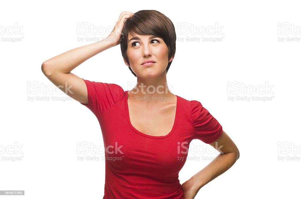 Confused woman royalty-free stock photo