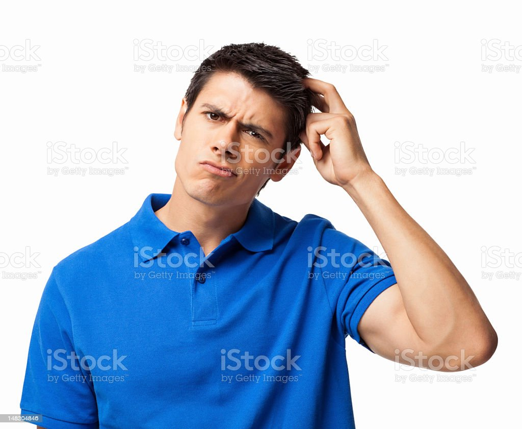 Confused Young Man - Isolated royalty-free stock photo
