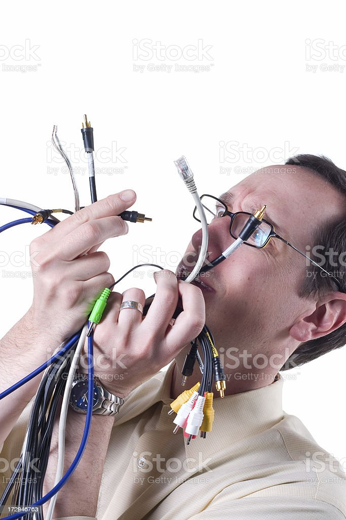 Confusing Wiring royalty-free stock photo