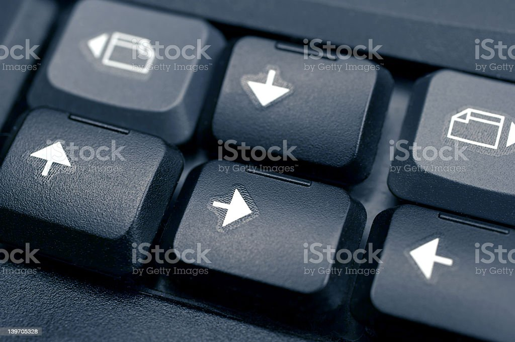 Confusion. Chaos - Keyboard arrows misplaced royalty-free stock photo