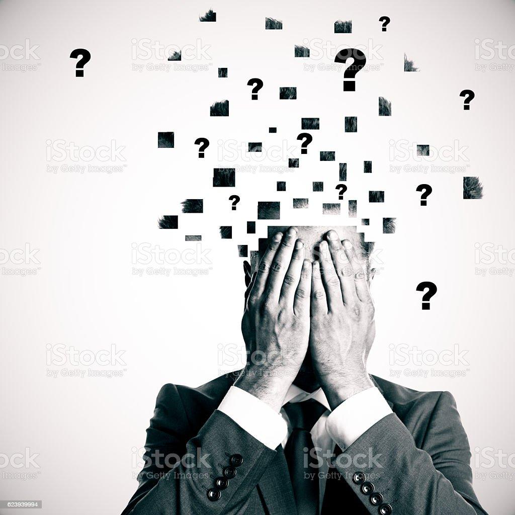 Confusion concept stock photo
