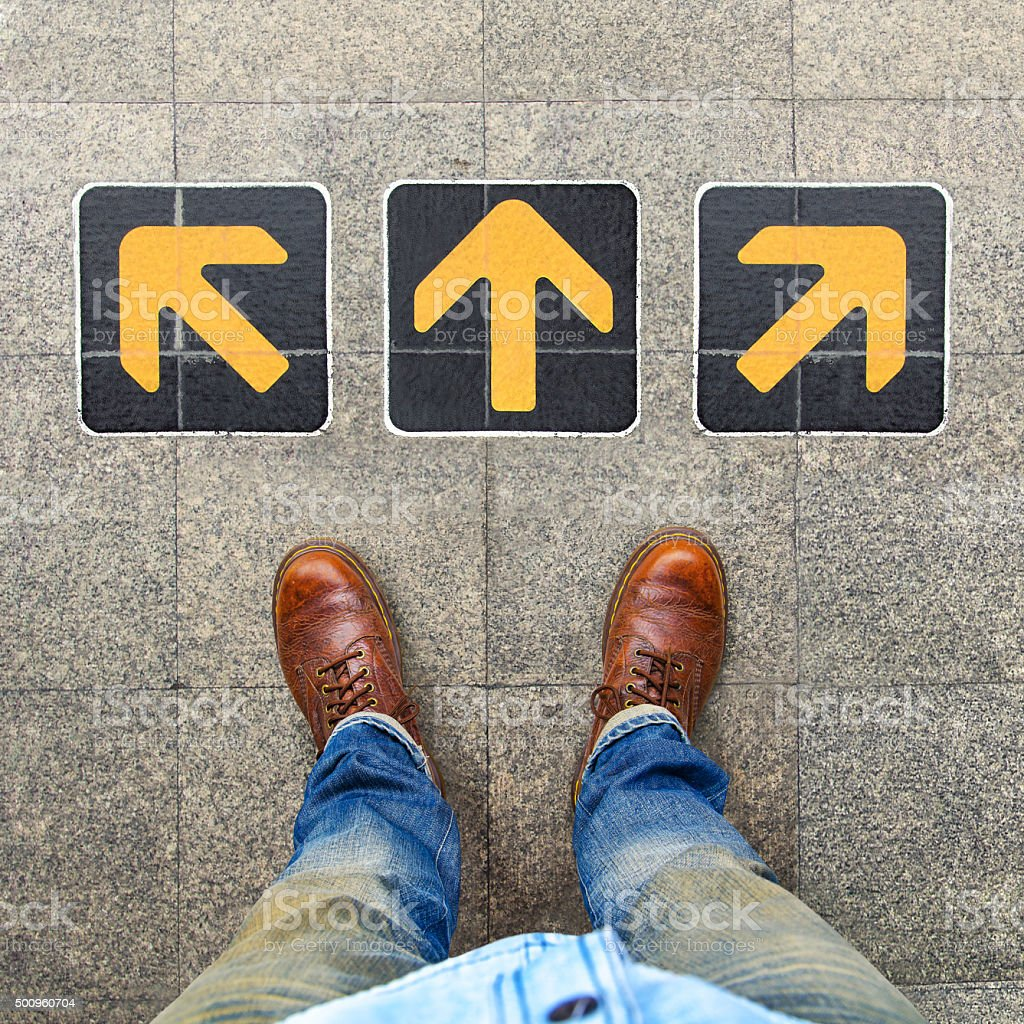 Confusion , Direction , Arrow stock photo