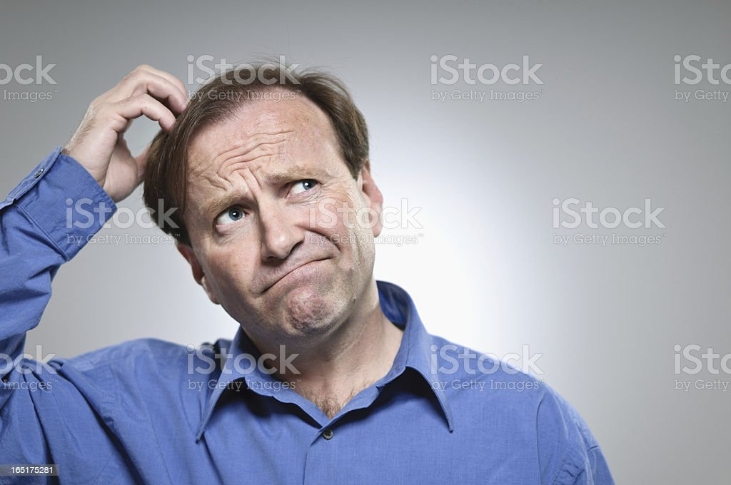 Confusion Portrait stock photo