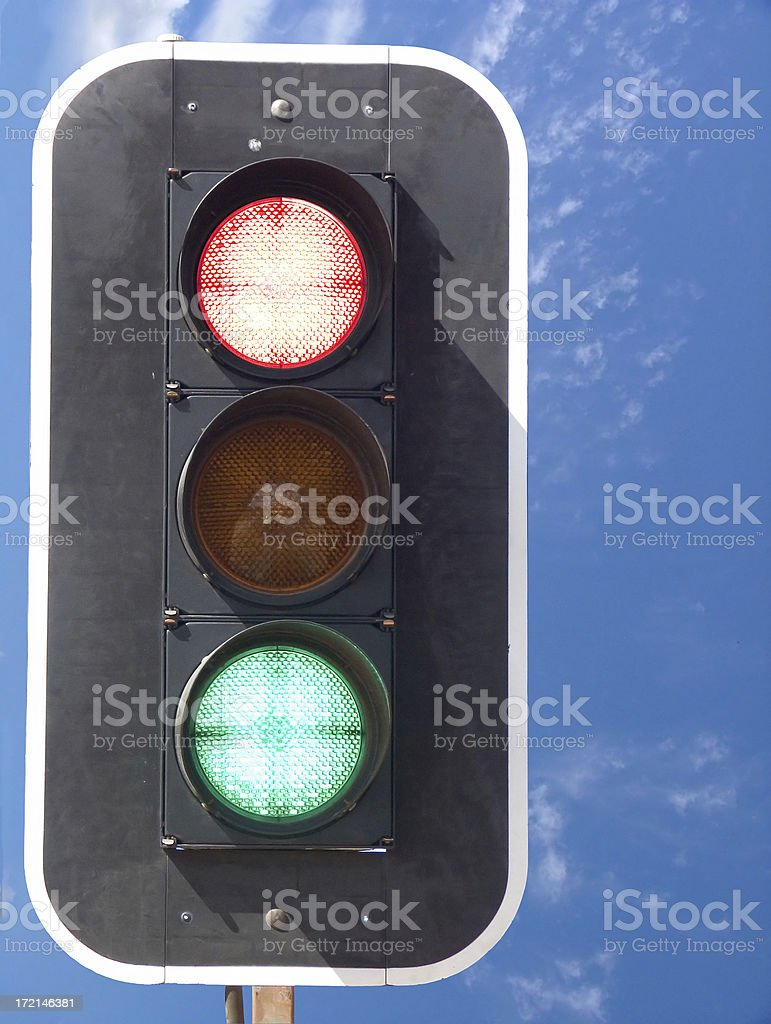 confusion: stop and go royalty-free stock photo