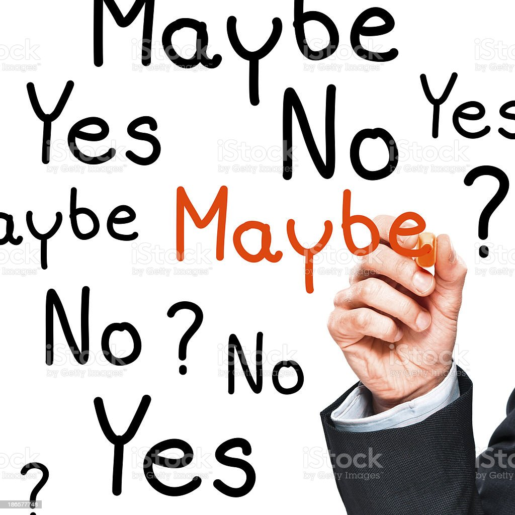 Confusion? Yes, No, Maybe. How to make the right decision royalty-free stock photo