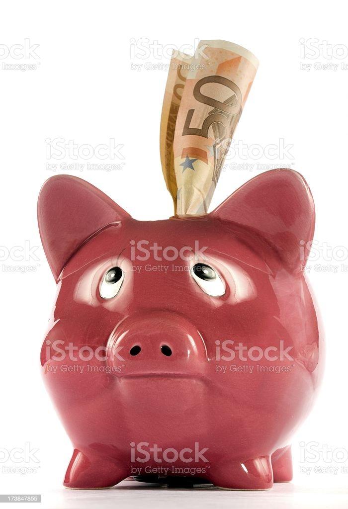 Confusioned piggi bank stock photo