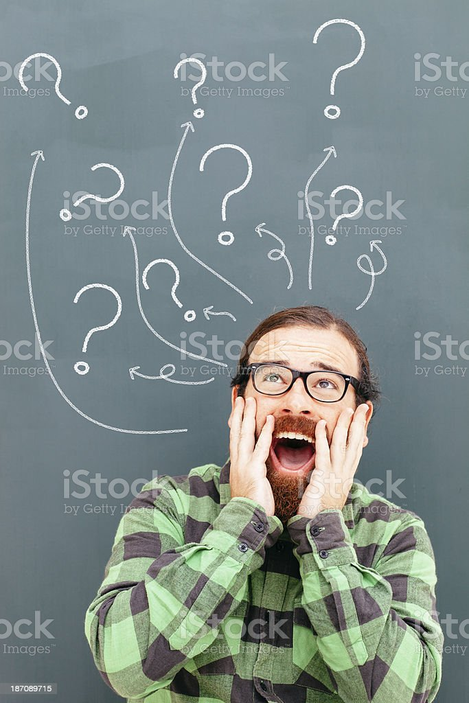 Confussion and questions royalty-free stock photo