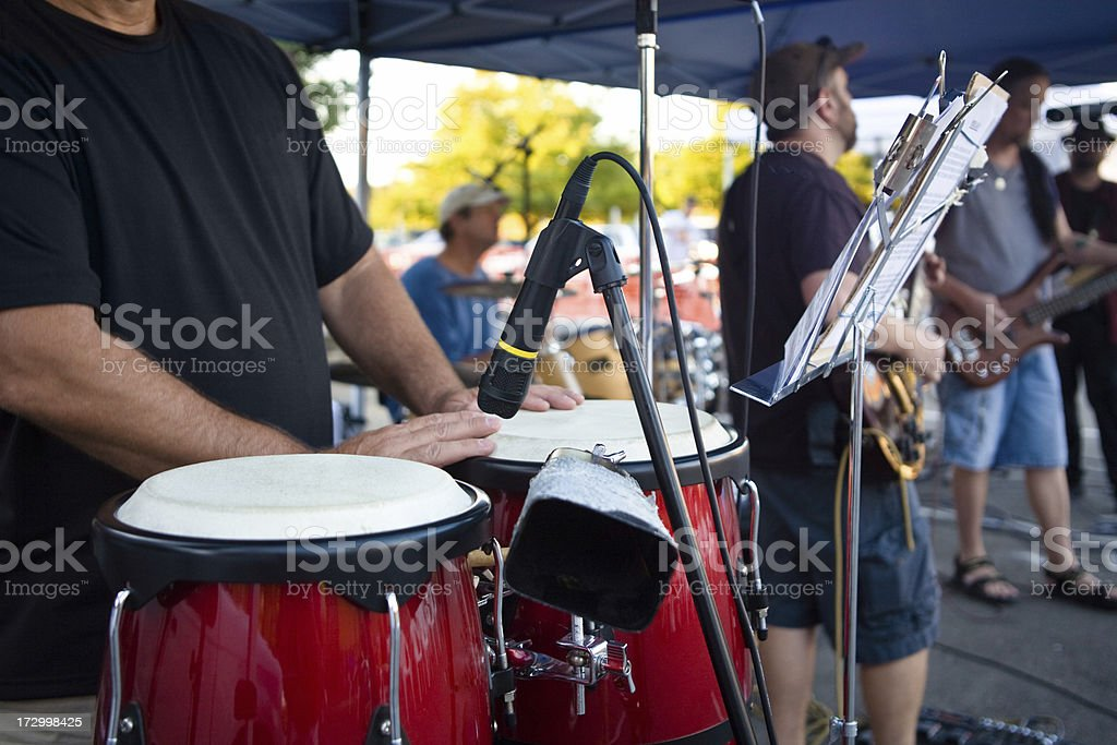 Conga And The Band stock photo