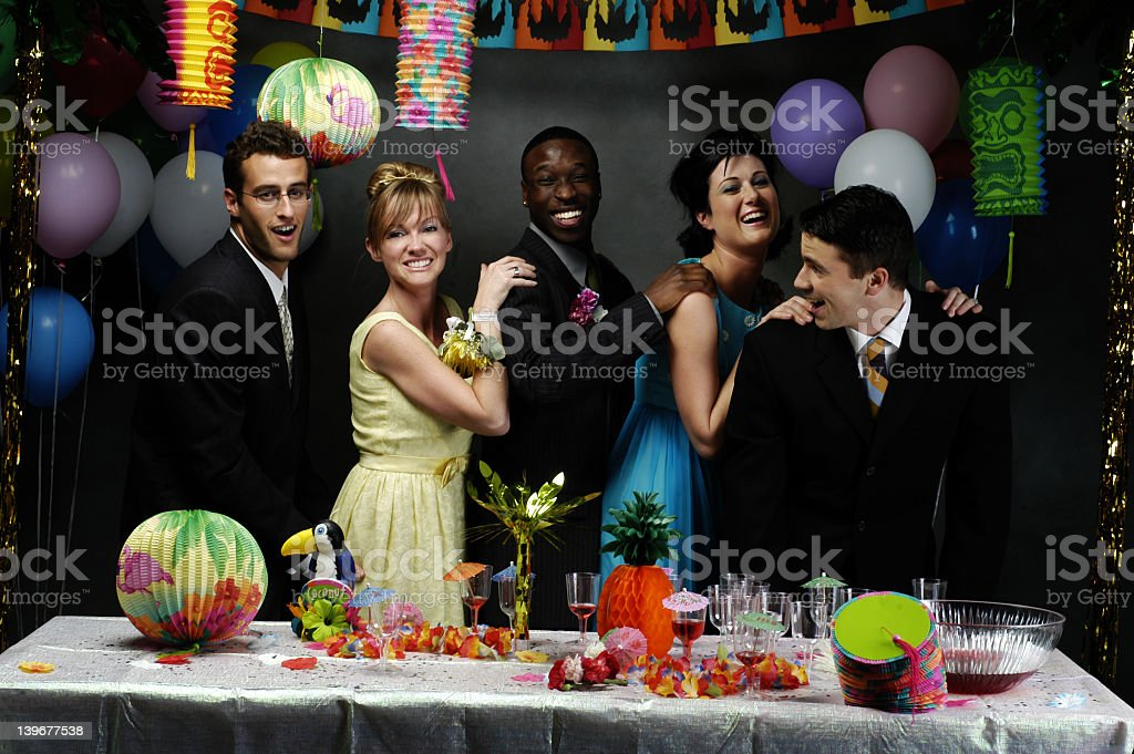 Conga Line! stock photo