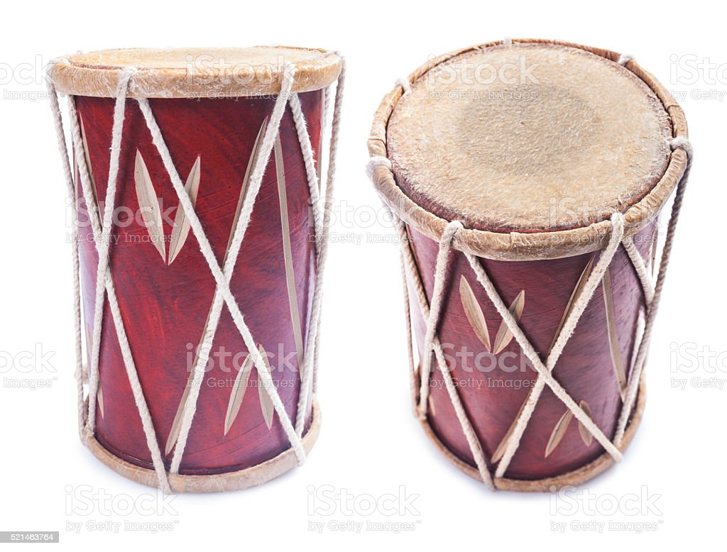 conga percussion drum instrument isolated stock photo