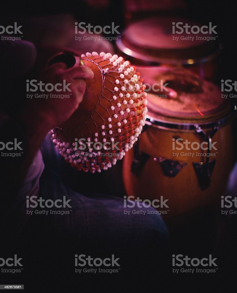 congas and shekere stock photo