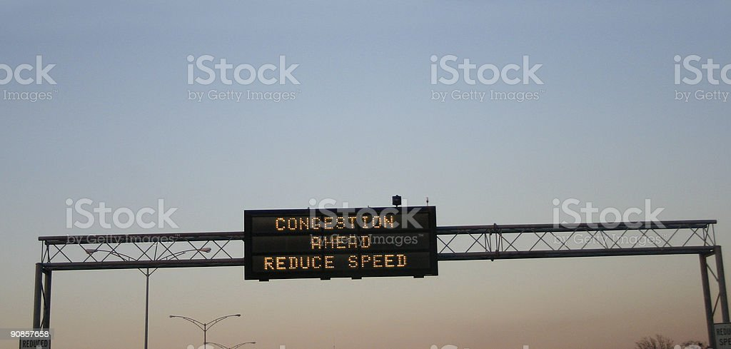 congestion ahead royalty-free stock photo