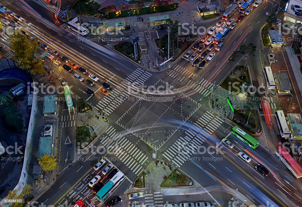 Congestion and Traffic  - blurred motion with speed concept stock photo