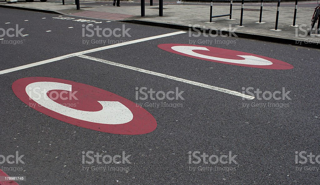 Congestion sign stock photo