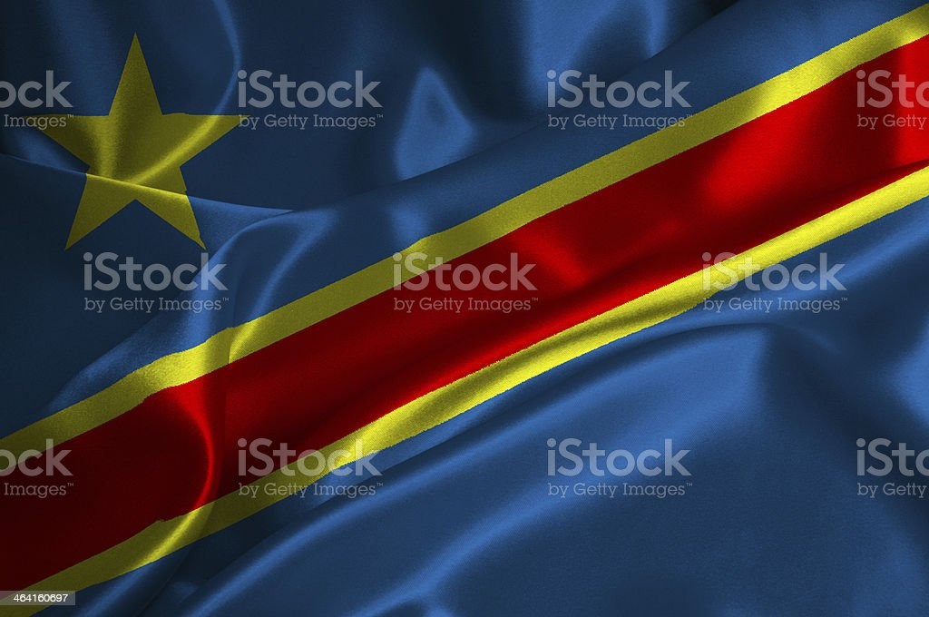 Congo Democratic Republic flag stock photo