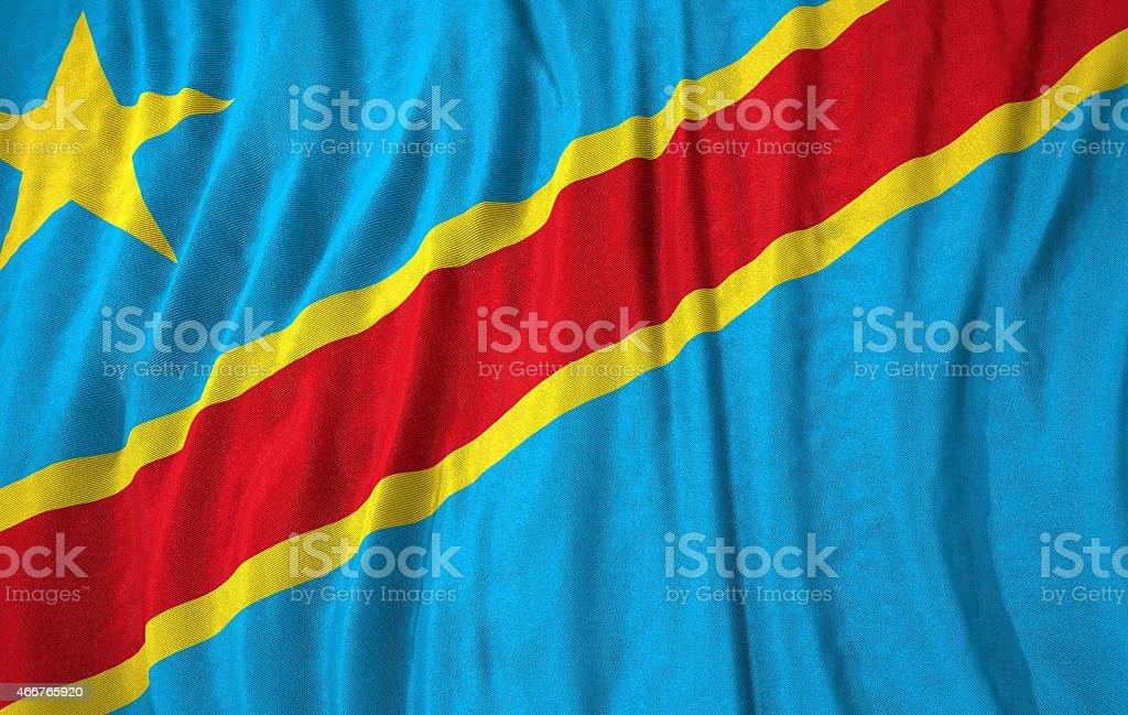 Congo flag 3d illustration stock photo