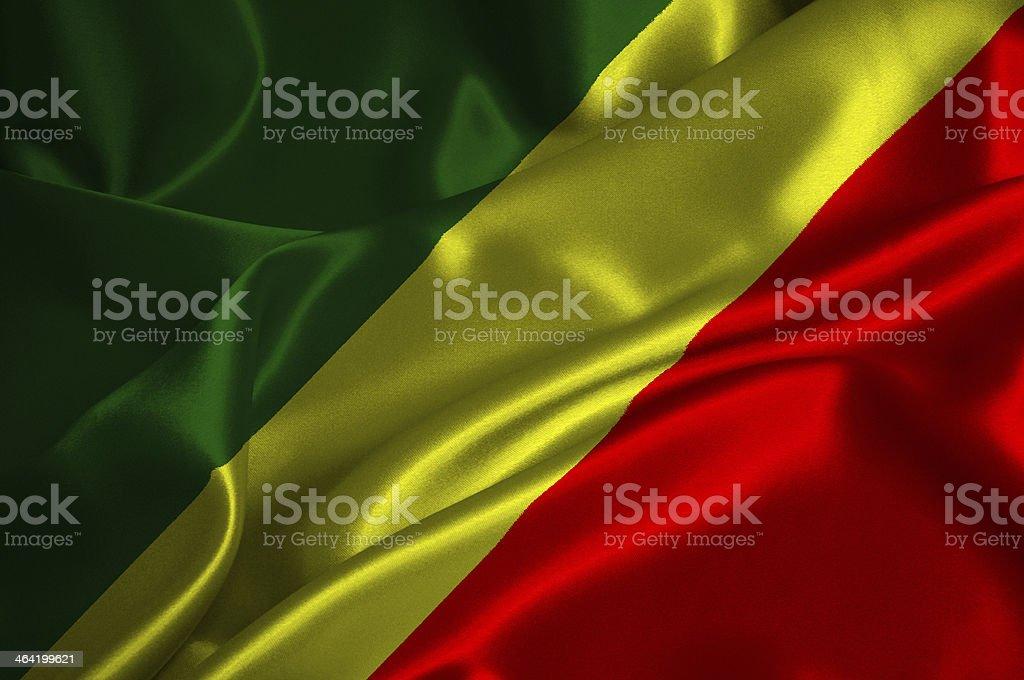 Congo Republic flag stock photo