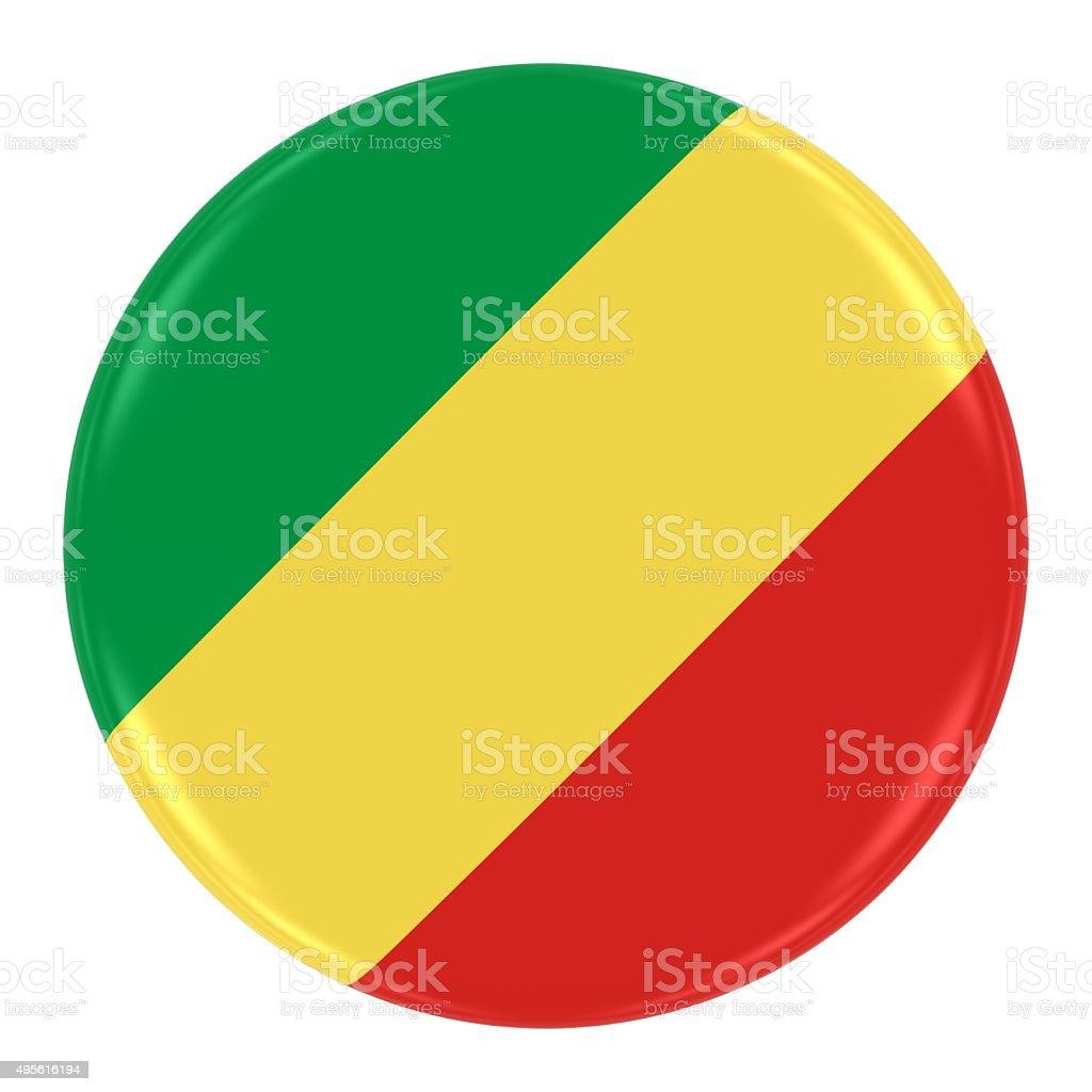Congolese Flag Badge stock photo