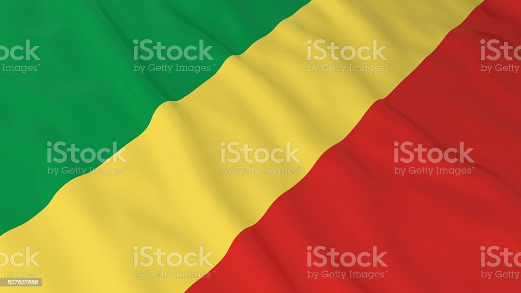 Congolese Flag HD Background - Flag of Congo 3D Illustration stock photo