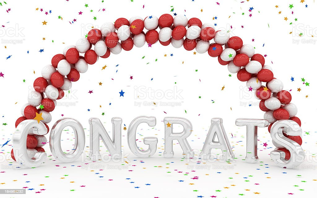 Congrats! stock photo