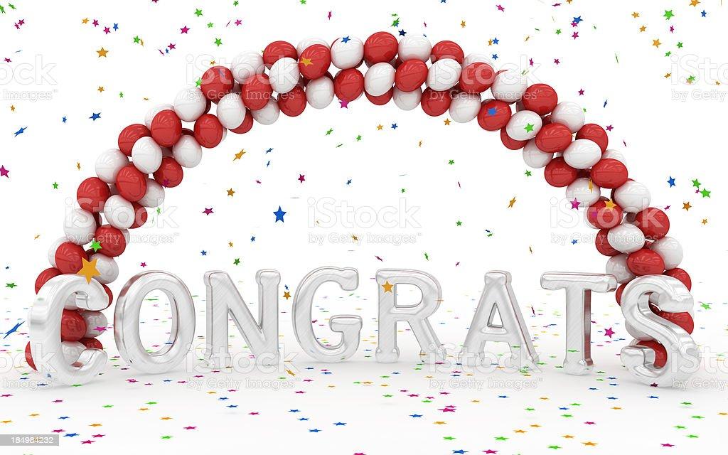 Congrats! stock photo