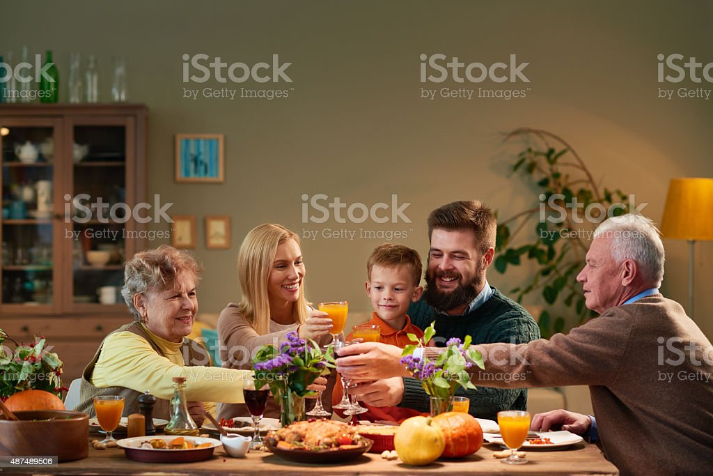 Congratulating each other stock photo