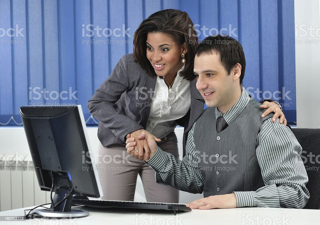 Congratulating on good news royalty-free stock photo