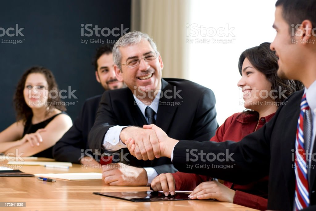 Congratulating royalty-free stock photo
