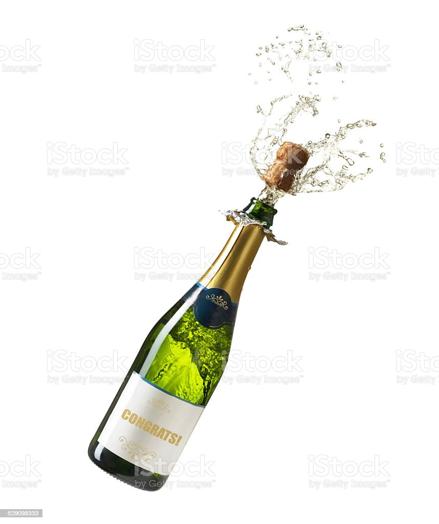 Congratulation Champagne stock photo