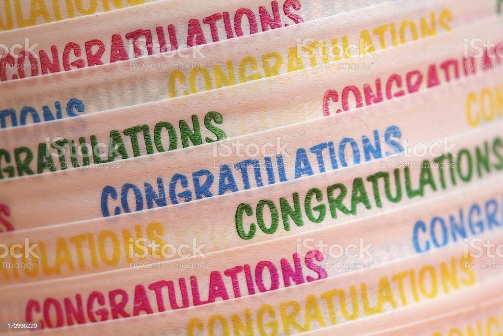 Congratulation ribbon royalty-free stock photo