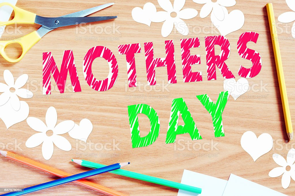 Congratulation to Mothers day stock photo