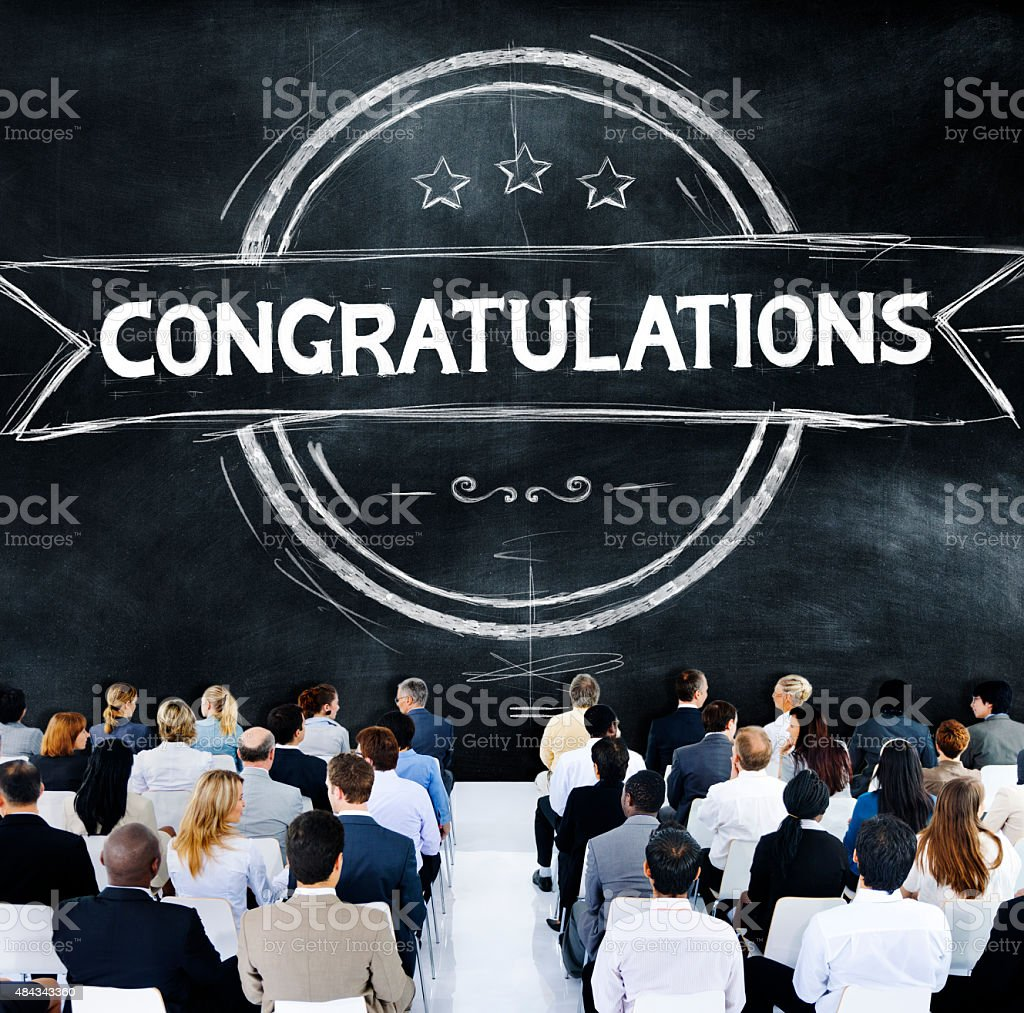 Congratulations Achievement Celebration Admiration Concept stock photo