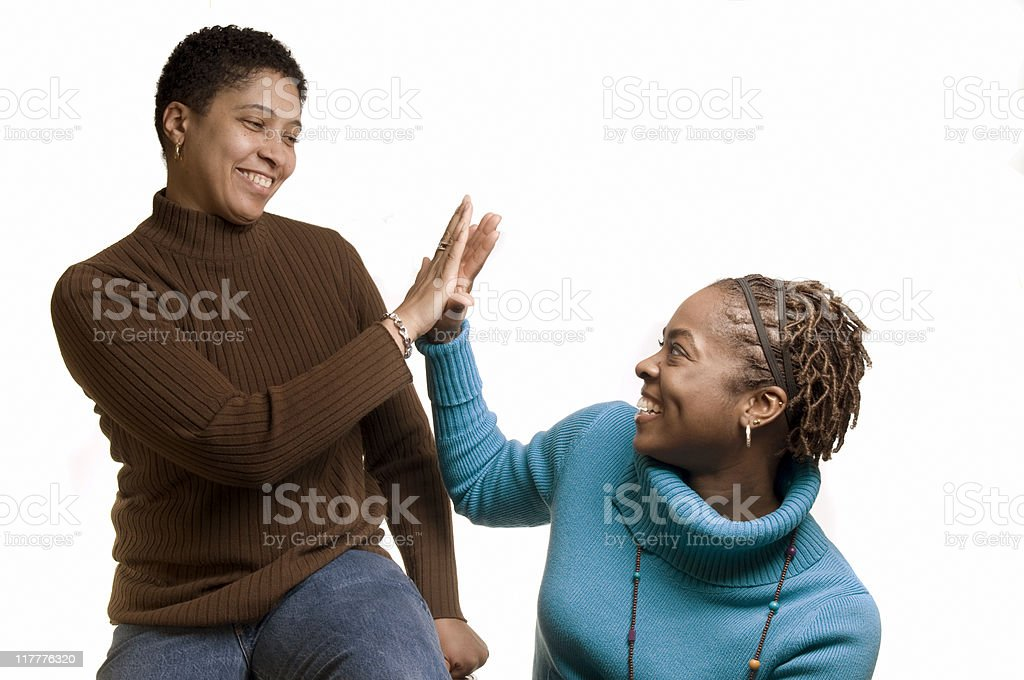 Congratulations High Five royalty-free stock photo